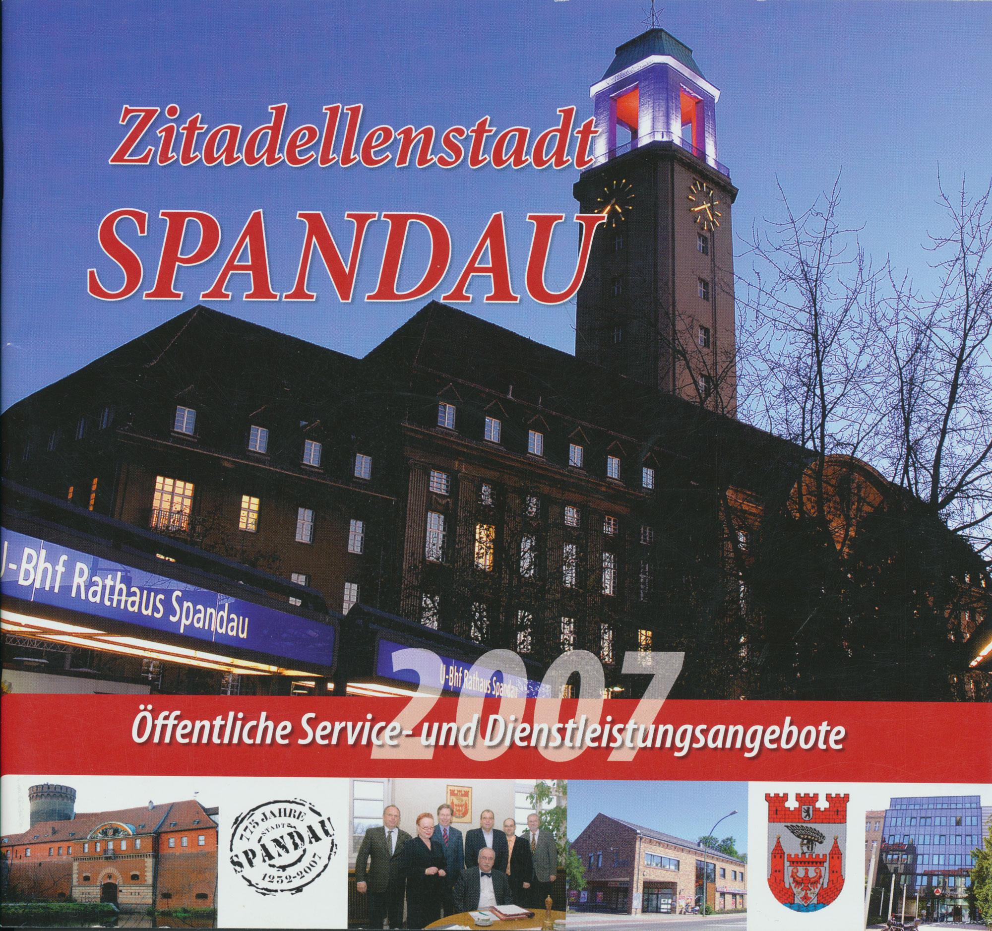 """2007 Photodesign für die Broschüre """"Zitadellenstadt Spandau"""""""