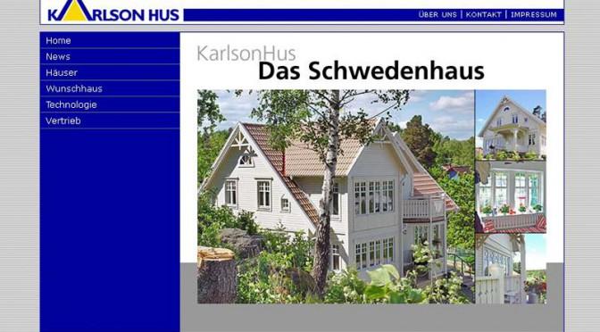 2006 Webdesign der Seite Karlsonhaus.de