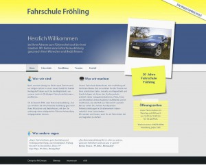 Webdesign der Seite www.froehlings-fahrschule.de