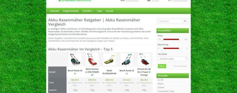 Ratgeberportal für Akku Rasenmäher