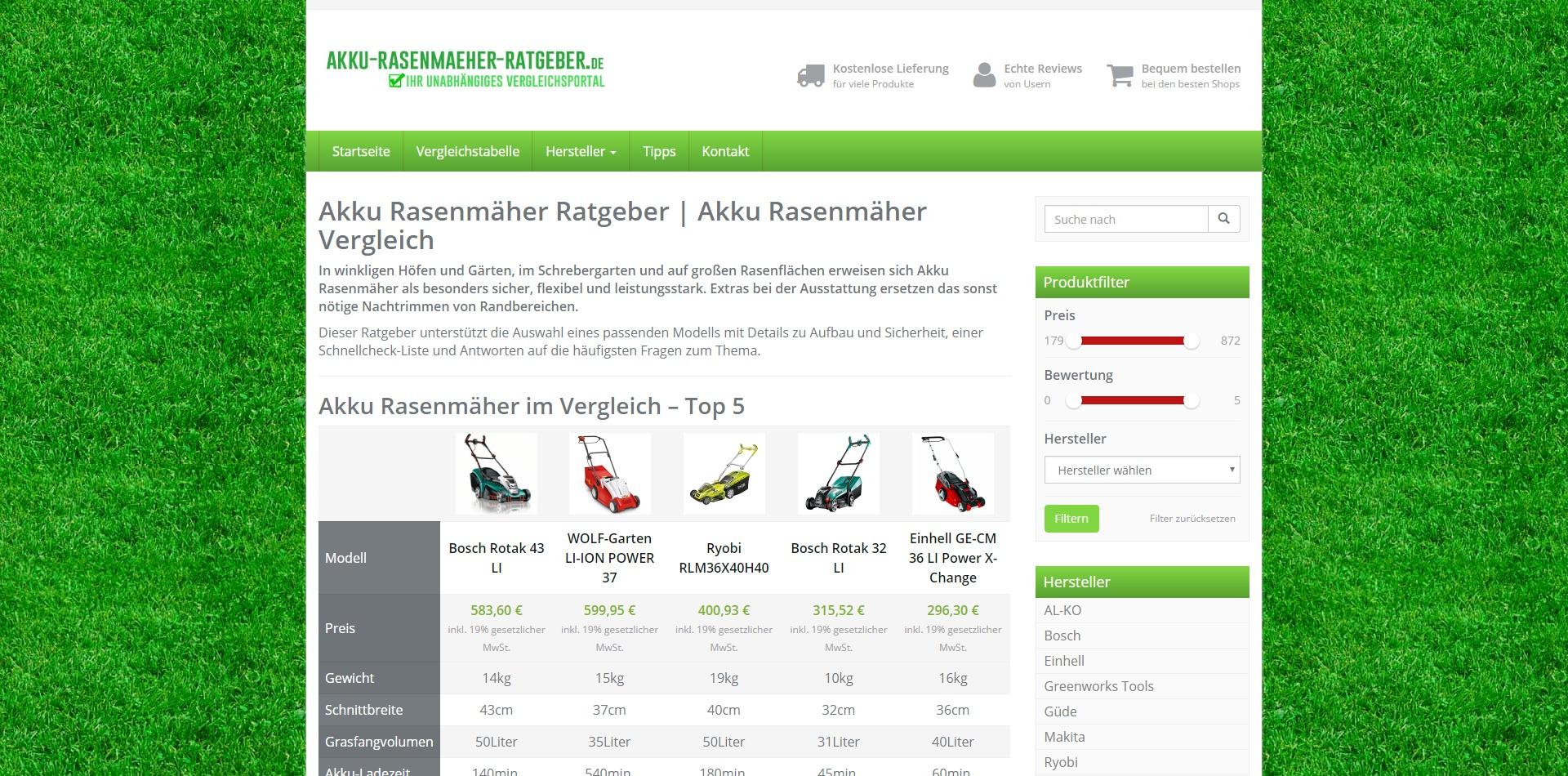 Ratgeberportal akku-rasenmaeher-ratgeber.de